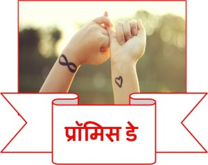 promise day hindi button