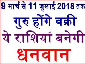9 मार्च से Guru Vakri 2018