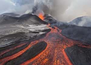 05 Dec 2012, Russia --- Tolbachik Volcano erupting, Kamchatka, Russia --- Image by © Sergey Gorshkov/Minden Pictures/Corbis
