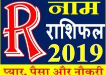 जानिए कैसा रहेगा R नाम वाले लोगो का साल 2019 Horoscope Rashifal in Hindi