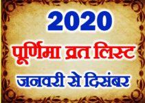 पूर्णिमा व्रत लिस्ट 2020 All Purnima Dates 2020
