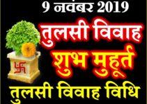तुलसी विवाह शुभ मुहूर्त 2019 Tulsi Vivah Date Time Muhurat 2019