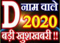 D Name Rashifal 2020 D नाम राशिफल 2020 D Name Horoscope 2020