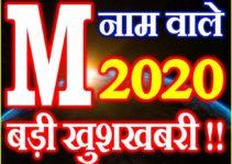 M Name Rashifal 2020 M नाम राशिफल 2020 M Name Horoscope 2020