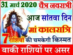 Chaitra Navratri Aaj ka Rashifal 2020