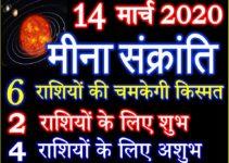 मीना संक्रांति 2020 कब है Meena Sankranti 2020 Effect 12 Zodiacs