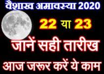 वैशाख अमावस्या 2020 Baishakh Amavasya Date Time Puja Vidhi 2020