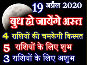 Budha Asta Effect 12 Zodiacs