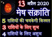 मेष संक्रांति 2020 कब है Mesh Sankranti 2020 Effect 12 Zodiacs