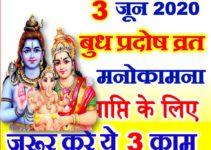 ज्येष्ठ शुक्ल प्रदोष व्रत 2020 कब है 3 June 2020 Pradosh Vrat