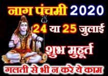 नागपंचमी शुभ मुहूर्त 2020 करे ये 1 काम Nag panchami Date Time 2020