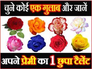चुने कोई 1 गुलाब
