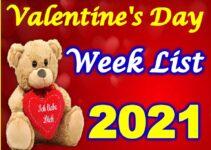 Valentine Day Week List 2021 All Dates वैलेंटाइन डे लिस्ट 2021