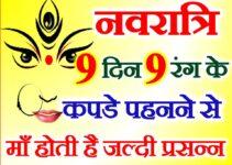 नवरात्री नौ दिन नौ शुभ रंग Chaitra Navratri 9 Days 9 Lucky Colours