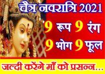 चैत्र नवरात्रि 2021 नौ शुभ रंग फूल व भोग Navratri 9 Lucky Colors Bhog