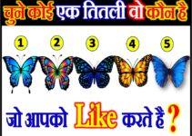चुने एक तितली कौन है जो आपको लाइक करते है Love Quiz Game by Butterfly