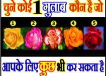 चुने एक गुलाब कौन है जो आपके लिए कुछ भी कर सकता है Rose Love Quiz Game