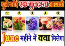 चुने कोई एक गुलदस्ता जून महीने में आपको क्या मिलेगा Bouquet Picture Love Quiz