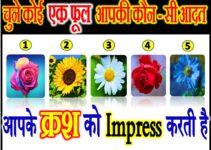 चुने कोई एक फूल आपकी कौन सी आदत क्रश को इम्प्रेस करती है Love Quiz Game