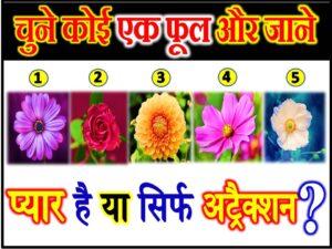 Choose A Flower Love Quiz Game