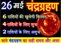 26 मई 2021 चंद्रग्रहण राशियों पर असर Chandra Grahan Effect 12 Zodiacs