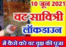 वट सावित्री व्रत लॉकडाउन में कैसे करे पूजाVat Savitri Vrat 2021 Puja Vidhi