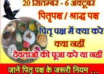 Pitru Paksh Shraddh Paksh 2021 पितृ पक्ष के दौरान क्या करे क्या न करे