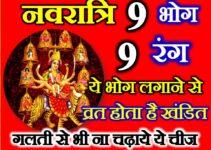 शारदीय नवरात्रि 2021 नौ शुभ रंग व भोग | Shardiya Navratri 9 Colours Bhog for 9 Days