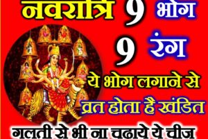 शारदीय नवरात्रि 2021 नौ शुभ रंग व भोग   Shardiya Navratri 9 Colours Bhog for 9 Days